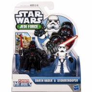 Playskool Heroes, Star Wars, Jedi Force Figures, Darth Vader and Stormtrooper - click to enlarge