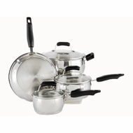 Proctor Silex 94010 7 Piece Stainless Steel Softhandle Cookware - click to enlarge