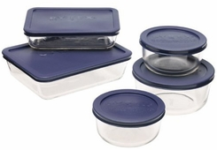 Pyrex 6021224 10-Piece Storage Set with Lids - click to enlarge