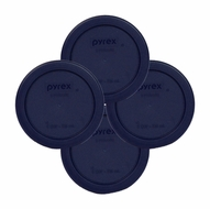 Pyrex Blue 4 Cup Round Plastic Cover 7201 4-pack - click to enlarge