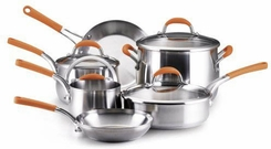 Rachael Ray 76081 10 Piece Stainless Steel Cookware Set - click to enlarge