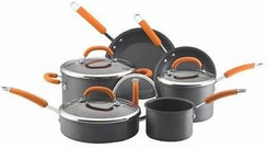 Rachael Ray 80655 10 Piece Hard Anodized Cookware Set - click to enlarge
