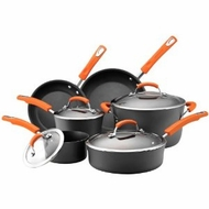 Rachael Ray 87375 10-Piece Hard Anodized Nonstick Dishwasher Safe Cookware Set - click to enlarge