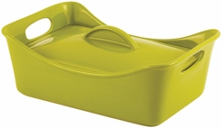 Rachael Ray Stoneware 3-1/2-Quart Covered Rectangle Lasagna Casserole - click to enlarge