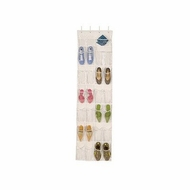 Richards Homewares Clear Vinyl 12 Pocket Shoe Caddy with Hanger - click to enlarge