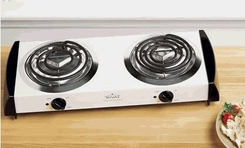 Rival BD222 Double Burner Hot Plate - click to enlarge