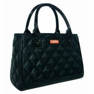 Sachi 03-032 Fashion Insulated Lunch Bag, Black Quilted - click to enlarge