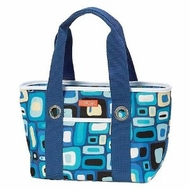 Sachi 11-002 Blue Squares Insulated Lunch Bag - click to enlarge
