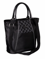 Sachi 120-103 Black Satchel Insulated Lunch Tote - click to enlarge