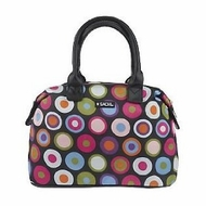 Sachi 30070-012 Multi-Circle Black Insulated Lunch Tote - click to enlarge