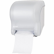 San Jamar T8000 Tear-N-Dry Essence Towel Dispenser, Fits '' Wide Roll, 11-3/4''Width x 14-7/16'' Height x 9-1/ - click to enlarge