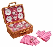 Schylling Butterfly Tea Set Basket - click to enlarge