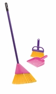Schylling Junior Helper Pink Broom Set with Hand Broom and Dust Pan - click to enlarge