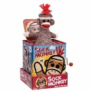Schylling Sock Monkey Jack In Box - click to enlarge