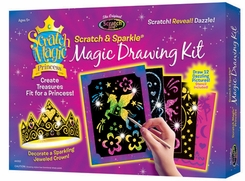 Scratch Magic® Princess Magic Drawing Kit Boxed Set by Melissa and Doug - click to enlarge
