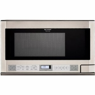 Sharp R1214 Stainless Steel Over-the-Counter Microwave - click to enlarge