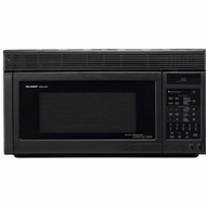 Sharp R1875 Black Over-The Range Microwave; 1.1 Cu Ft, 11 Power Levels - click to enlarge