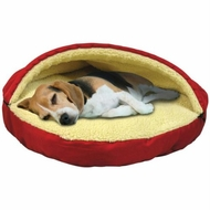 Soft Dog Cat Bed Half Pet House Kennel Doggy Warm Lovely Cushion - click to enlarge