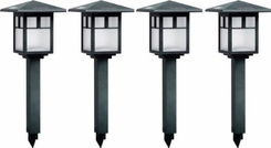 Brinkmann 822-0668-5 4 Mission Path Lights and 1 Led Spotlight - click to enlarge