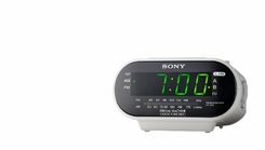Sony ICF-C318 Automatic Time Set Clock Radio with Dual Alarm (White) - click to enlarge