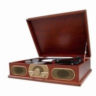 Spectra Studebaker Wooden Turntable with AM/FM Radio & Cassette Player SB6052 - click to enlarge
