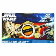 Star Wars Clone Wars Grievous Spinning Lightsaber - click to enlarge