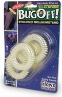 Stinger Bug Off! GL3-6 Glow-in-the-Dark Bug Repellant Wristband - click to enlarge