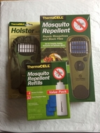 Thermacell Mosquito Repellent Camper Kit: Appliance Green+Holster Green +Refill Value Pack - click to enlarge