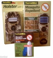 Thermacell Mosquito Repellent Kit: Camo Appliance APG+Realtree Holster+Earth Scent Refill Value Pack - click to enlarge