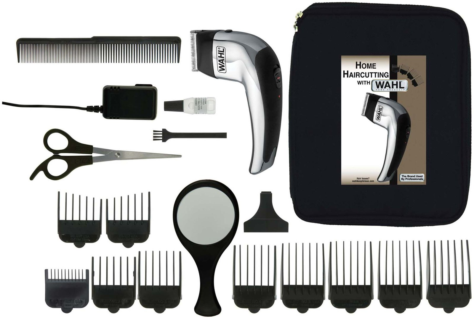Wahl deluxe self cut do it yourself haircut kit 18 pieces solutioingenieria Gallery