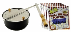 Whirley-Pop 27000 Open Fire Popper w/Real Theatre Popcorn - click to enlarge
