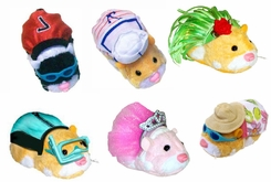 Zhu Zhu Pets Outfit Set- Includes: Wet Suit w/Goggles, Soccer, Sailor, Sundress w/Hat & Hula (5 outfits) - click to enlarge