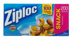 Ziploc Snack Bag Value Pack, 200-Count - click to enlarge