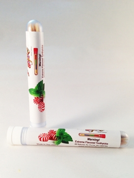 Spearmint Peppermint Toothpicks In Tube