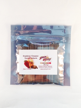 Strawberry / Cinnamon Toothpicks 100 qty Bulk Bag
