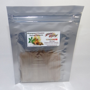 Wintergreen / Cinnamon Toothpicks 100 qty Bulk Bag Single Order
