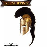 King Leonidas Brass Helmet