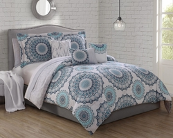 10 Piece Kendria Tea;/Ivory Comforter Set