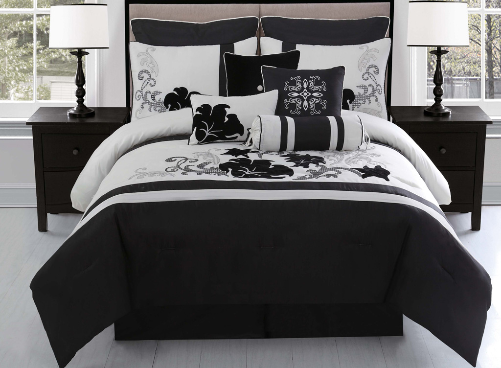 Grey And Black Bedding Set Black And Grey Comforter Sets