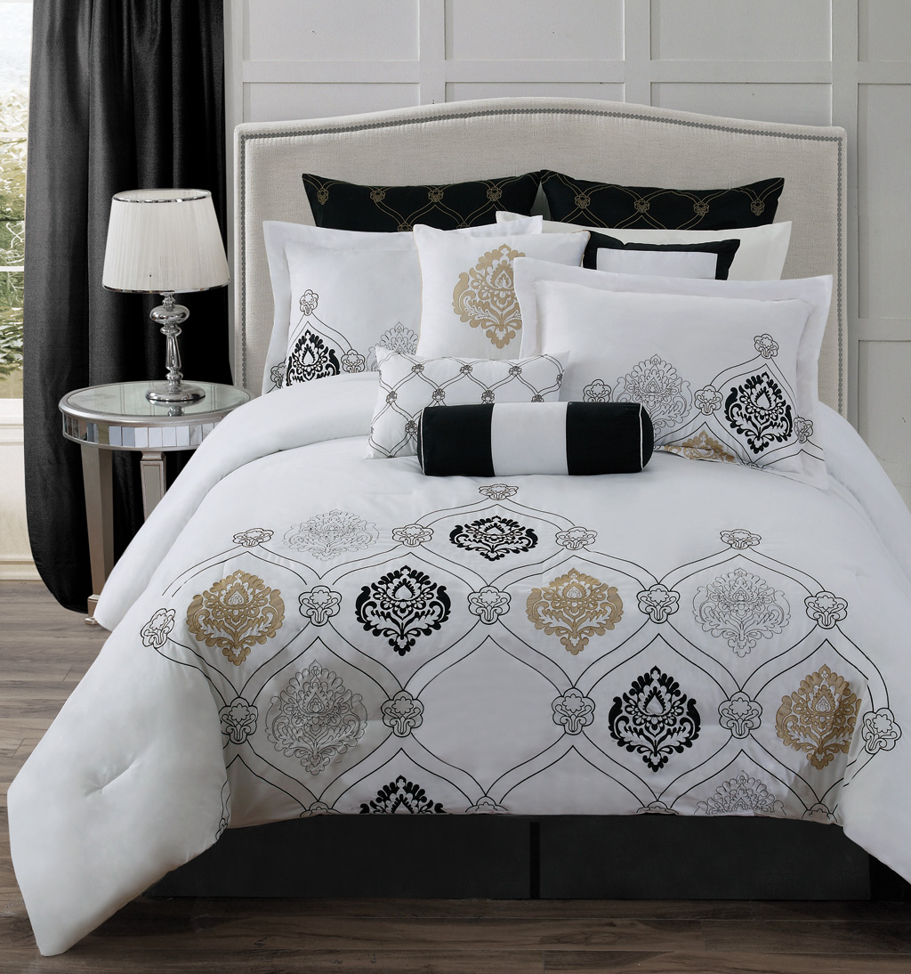 Grey And Gold Bedding Set