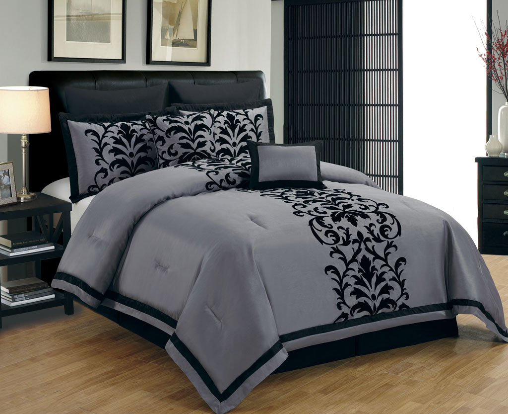 Black And Grey forter Sets Queen