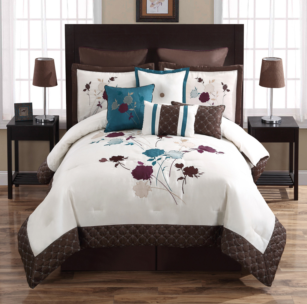 Queen bedding sets teal Teal bedding sets