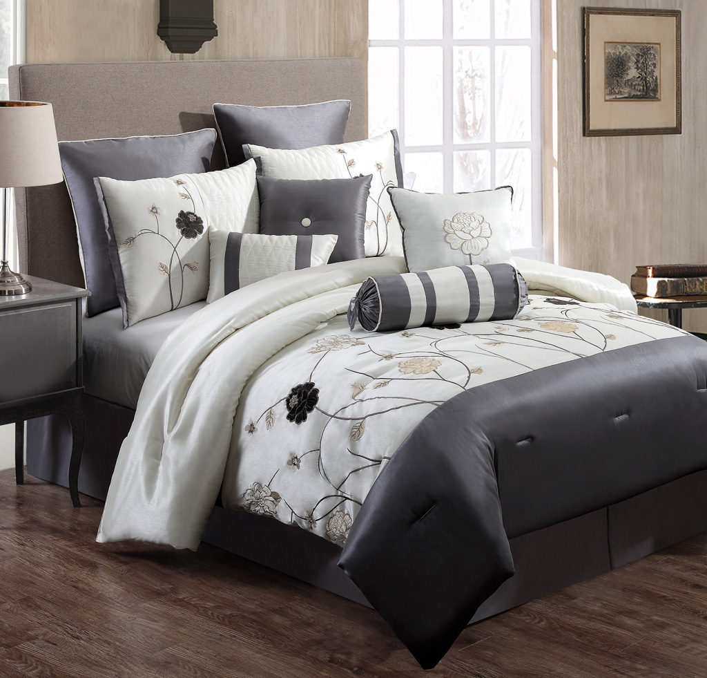 the anatomy of bed comforters gray roole. Black Bedroom Furniture Sets. Home Design Ideas