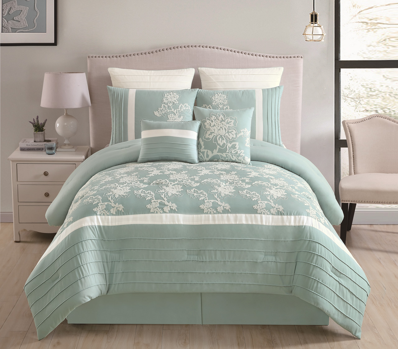 12 Piece Maris Aqua Bed In A Bag Set