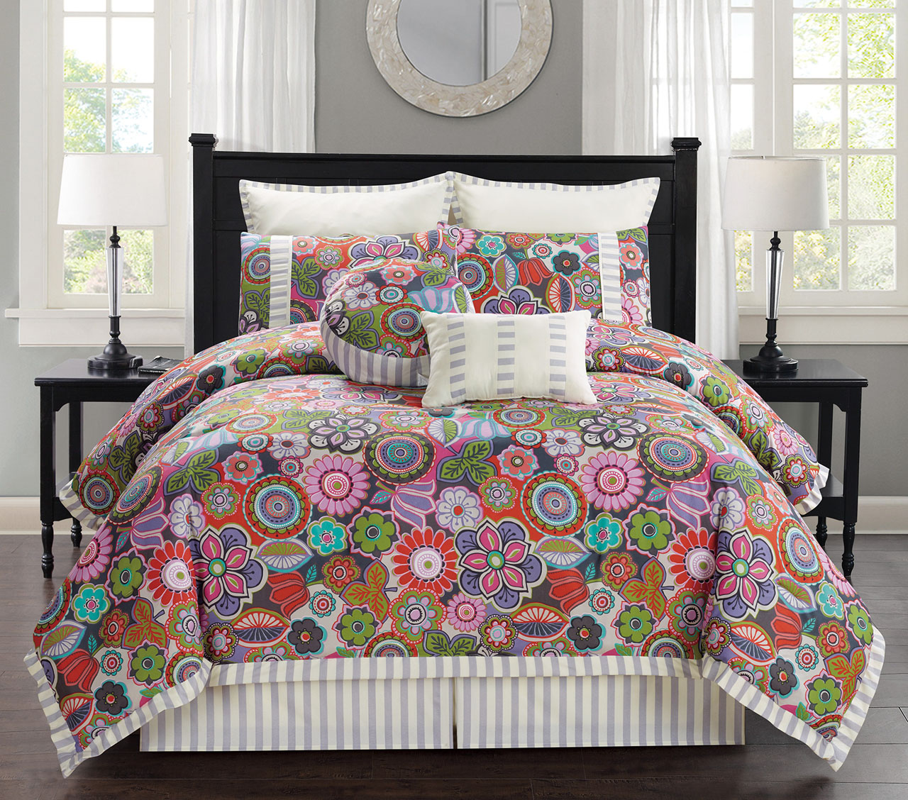 12 Piece Palermo Floral Bed In A Bag Set