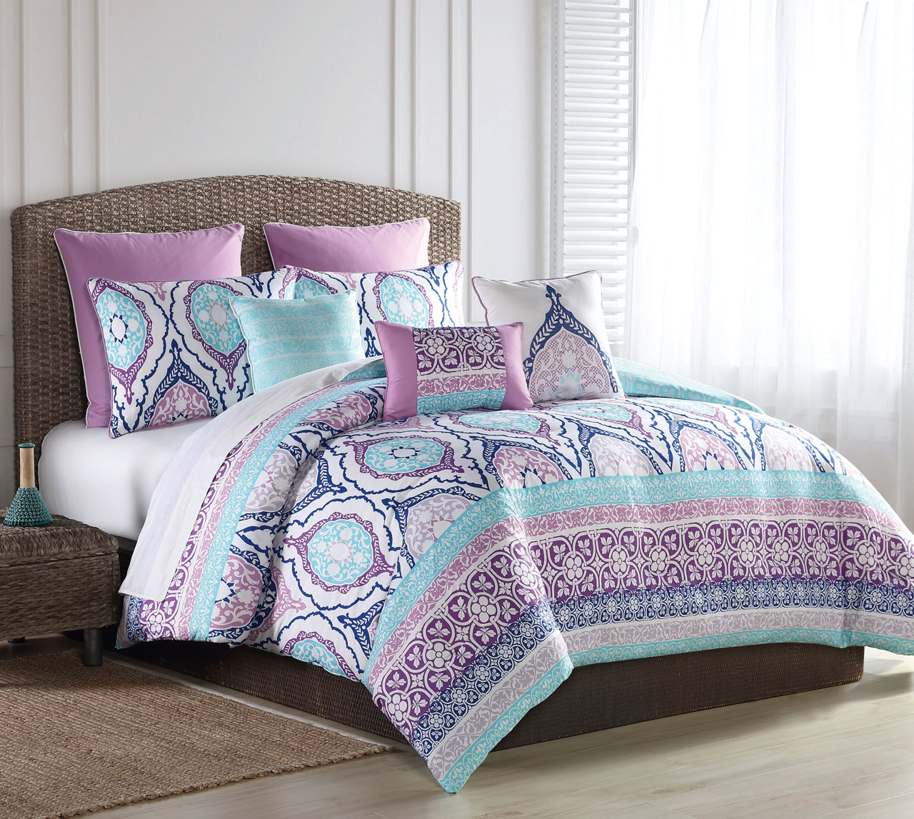 turquoise comforter set 12 raquel turquoise purple bed in a bag set 10922