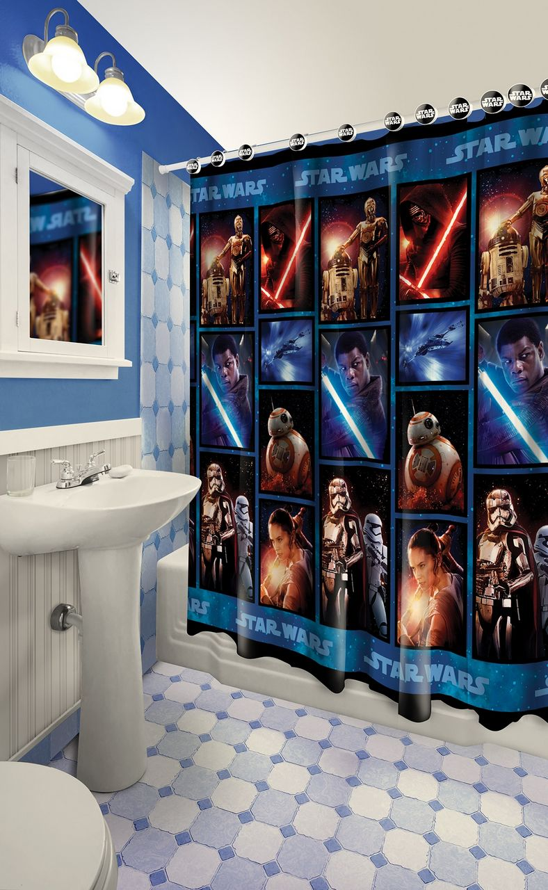 13 Pieces Star Wars Shower Curtain With Matching Hooks 2
