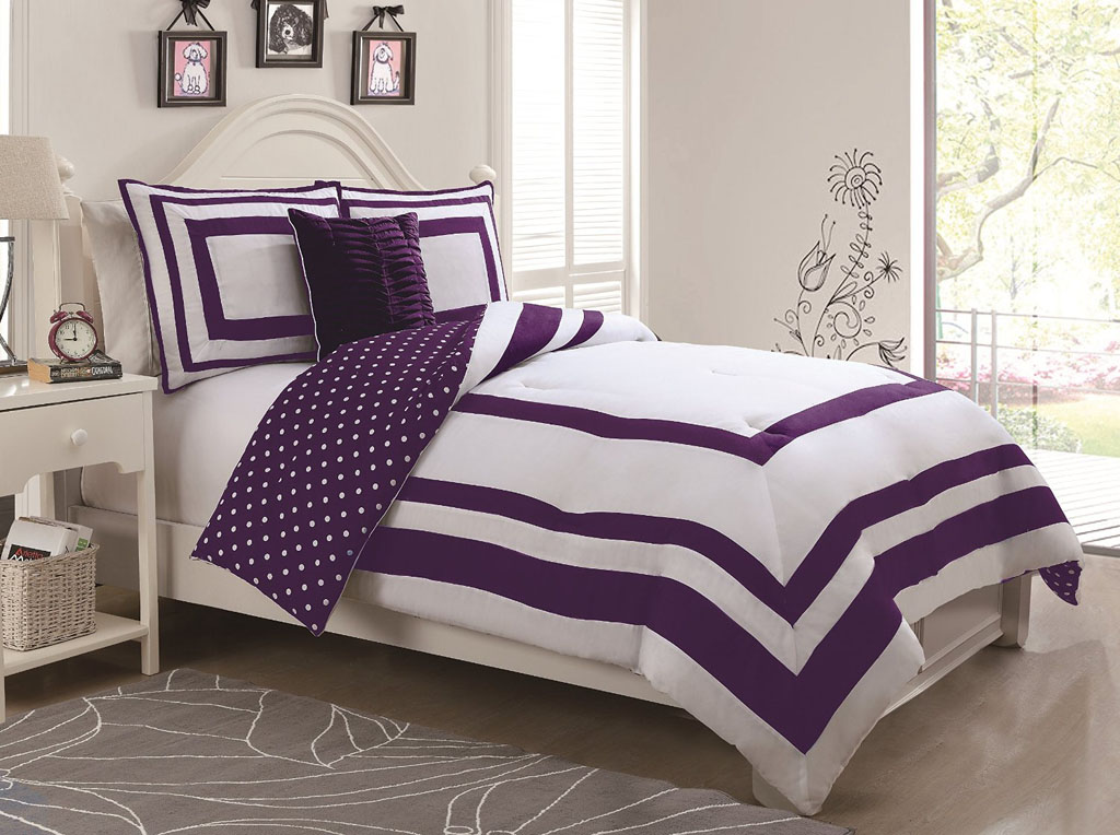 set bedding daisy bed first home comforter com walmart in ip purple bag at graphic a