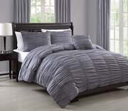 4 Piece Nikki Charcoal Comforter Set