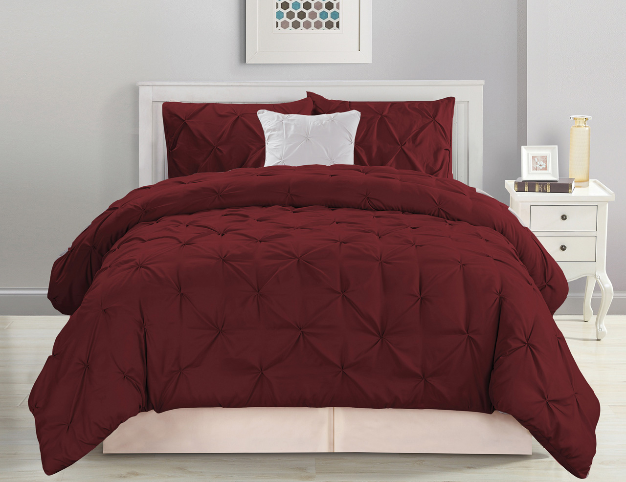 ... Burgundy White Comforter Set · 2 ...